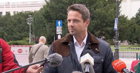 Trzaskowski wzywa rywali do debaty przed pierwszą turą