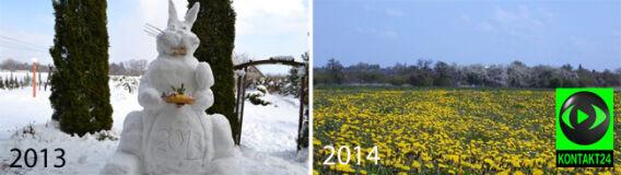 Śnieżyce i mróz: w zeszłym roku Wielkanoc była zupełnie inna
