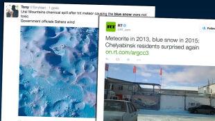 Niebieski śnieg w Czelabińsku. To przez meteoryt?
