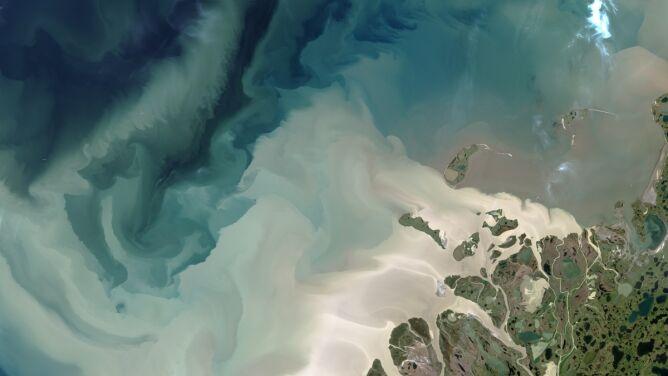 Wzory na wodach Morza Beauforta, <br />niczym namalowane pędzlem
