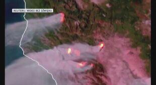 Pożary w Kalifornii widać z kosmosu