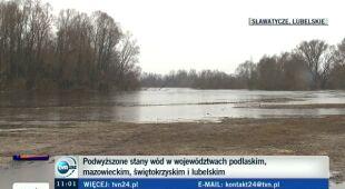 Roztopy podwyższają stan wody w rzekach (TVN24)